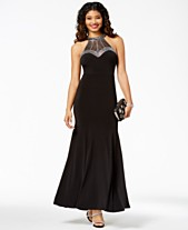 c77b90b97a Say Yes to the Prom Juniors  Embellished Halter Gown