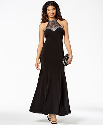 Say Yes To The Prom Juniors Embellished Halter Gown Created For
