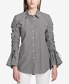 Calvin Klein Gingham Tunic Shirt