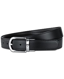 Montblanc Men's Black & Brown Reversible Leather Belt