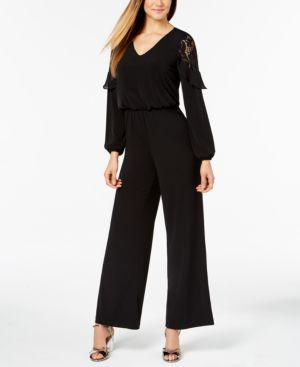 Thalia Sodi Lace-Inset Jumpsuit, Created for Macy's