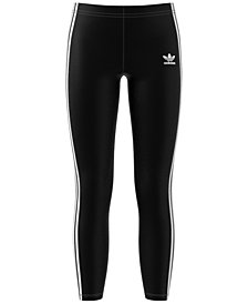 adidas Originals Big Girls Three-Stripe Leggings