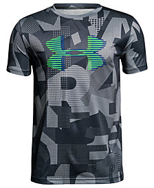 Under Armour Logo-Print Tech T-Shirt, Big Boys