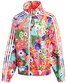 adidas Originals Printed Windbreaker Jacket, Big Girls