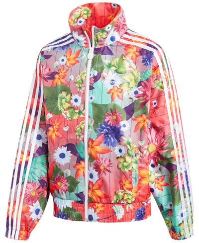 adidas Originals Printed Windbreaker Jacket, Big Girls