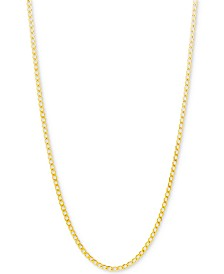 "Italian Gold Curb Link Chain 22"" Necklace (2-1/3mm) in 10k Gold"