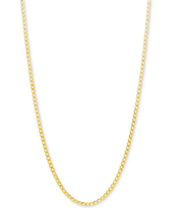 Italian Gold - Curb Link Chain Necklace in 10k Gold