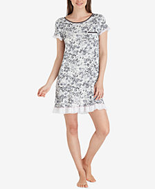 Layla Sweet Things Ruffled Printed Knit Sleepshirt