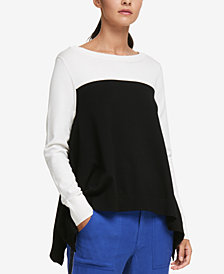 DKNY Colorblocked High-Low Sweater, Created for Macy's
