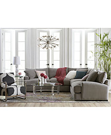 Rhyder Fabric Sectional Collection, Created For Macyu0027s