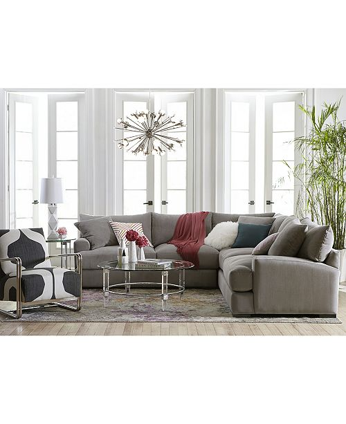 Furniture Rhyder 5 Pc Fabric Sectional Sofa With Apartment Created For Macy S