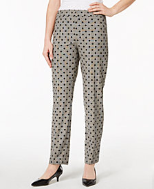 Charter Club Dot-Print Plaid Ankle Pants, Created for Macy's