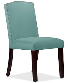 Callon Velvet Nail Button Dining Chair, Quick Ship