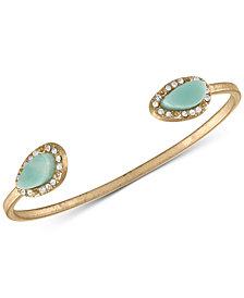 RACHEL Rachel Roy Gold-Tone Blue Stone Cuff Bracelet