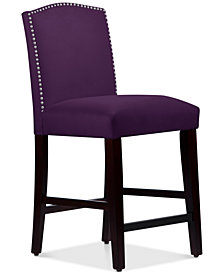 Callon Velvet Counter Stool, Quick Ship
