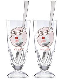 kate spade new york All in Good Taste Two Scoops 2-Pc. Ice Cream Soda Glass Set