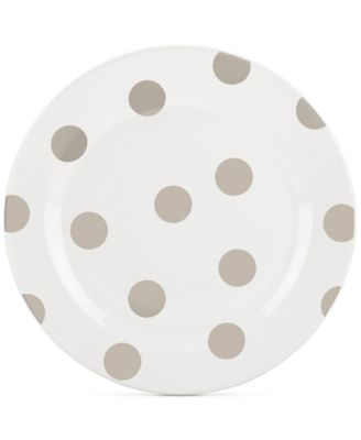 All in Good Taste Deco Dot 4-Pc. Beige Salad Plate Set