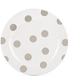 All in Good Taste Deco Dot 4-Pc. Beige Salad Plate Set