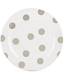 kate spade new york All in Good Taste Deco Dot 4-Pc. Beige Salad Plate Set