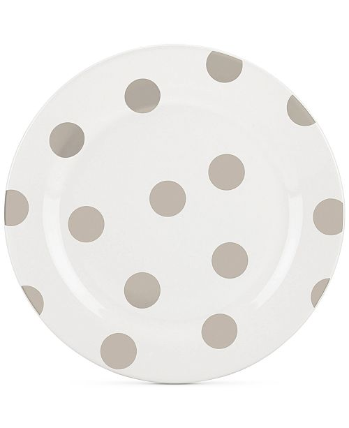 kate spade new york All in Good Taste Deco Dot 4-Pc. Beige Salad Plate Set