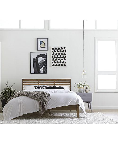 Furniture Sherlon Modern Slatted Platform Beds, Quick Ship