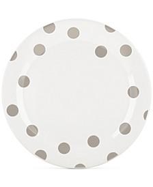 All in Good Taste Deco Dots 4-Pc. Beige Dinner Plate Set