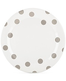 kate spade new york All in Good Taste Deco Dots 4-Pc. Beige Dinner Plate Set