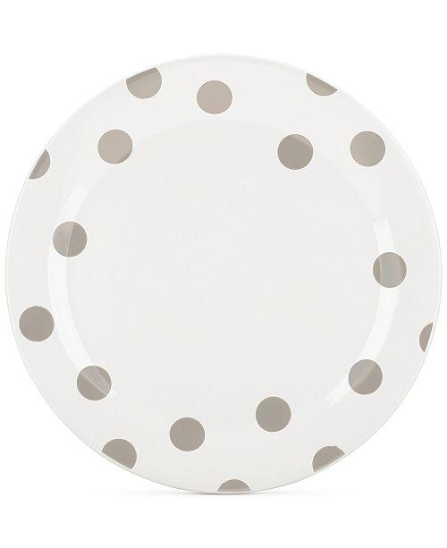 kate spade new york All in Good Taste Deco Dots 4-Pc. Beige Dinner Plate Set