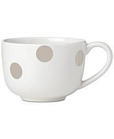 All in Good Taste Deco Dot Beige Latte Mug