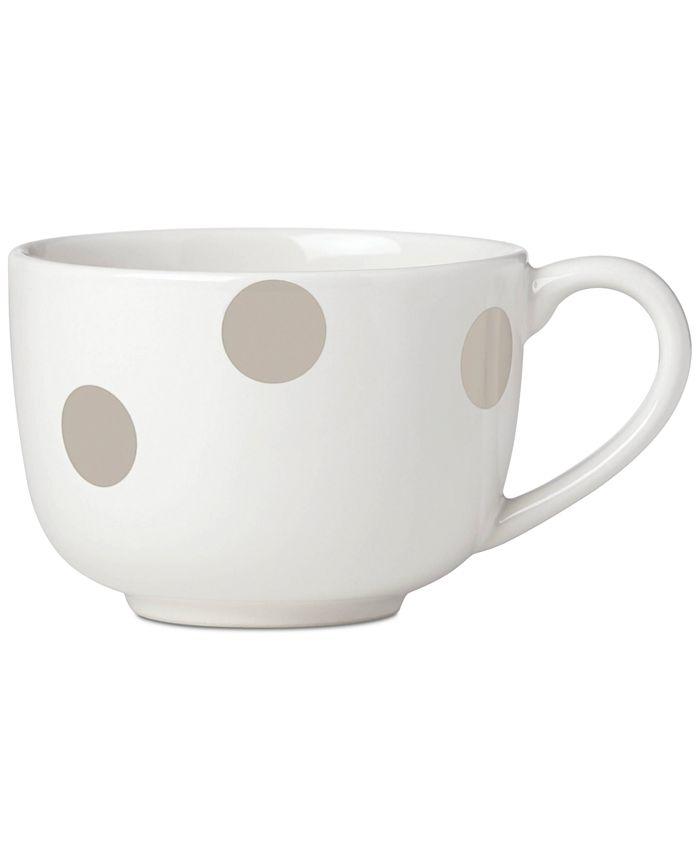 Kate Spade - All in Good Taste Deco Dot Beige Latte Mug