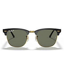 Ray-Ban CLUBMASTER Mirrored Polarized Sunglasses, RB3016