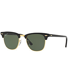 Ray-Ban CLUBMASTER Polarized Sunglasses, RB3016 51
