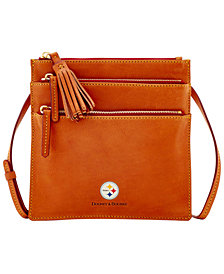 Dooney & Bourke Pittsburgh Steelers Florentine Triple Zip Crossbody Bag