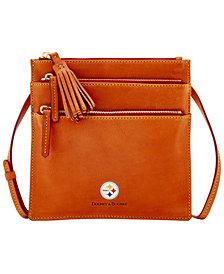 Dooney & Bourke Pittsburgh Steelers Florentine Triple Zip Crossbody Bag