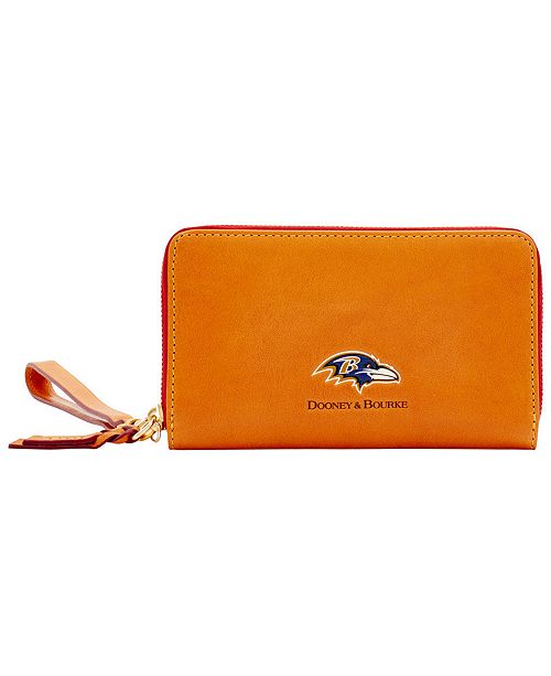 Dooney & Bourke Baltimore Ravens Florentine Zip Around Wallet
