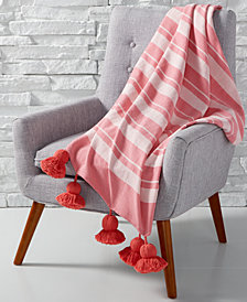 CLOSEOUT! Whim by Martha Stewart Collection Tassel Throw, Created for Macy's