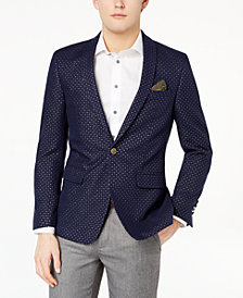 Tallia Orange Men's Modern-Fit Navy Metallic-Dot Dinner Jacket