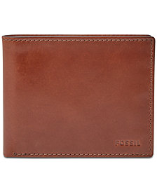 Fossil Men's Connor Leather Bifold Flip ID Wallet