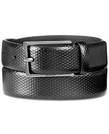 Hugo Boss Men's Gantic Embossed Leather Belt