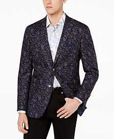 Tallia Orange Men's Modern-Fit Navy Floral Big and Tall Sport Coat