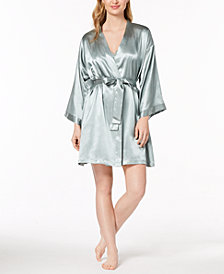 Thalia Sodi Satin Woven Chemise & Wrap, Created for Macy's
