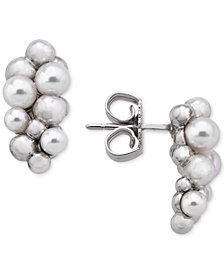 Majorica Sterling Silver Ball Cluster Stud Earrings