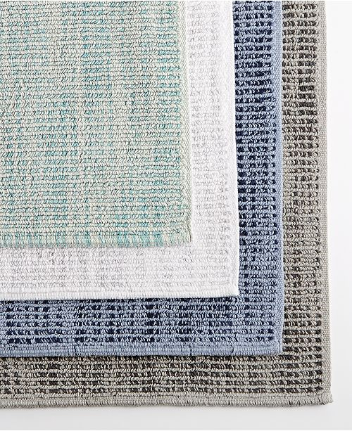 Hotel Collection CLOSEOUT! Fashion Textured Flat-Weave Bath Rugs, Created for Macy's