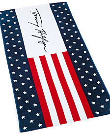 "Tommy Hilfiger Cotton 35"" X 66"" All Out Tommy Beach Towel"