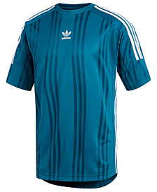 adidas Men's Originals Jacquard-Stripe T-Shirt