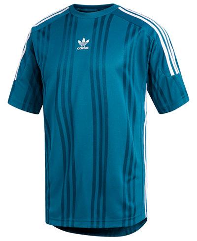 adidas Men's Originals Jacquard-Stripe T-Shirt