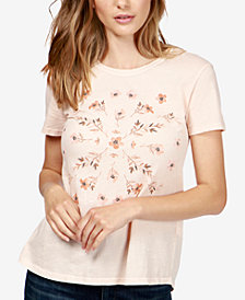 Lucky Brand Cotton Printed Split-Back T-Shirt