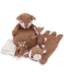 Cuddle Me Luxury Plush Brown Fox Baby Bedding Collection
