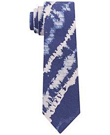Tommy Hilfiger Men's Indigo Tie-Dye Slim Tie