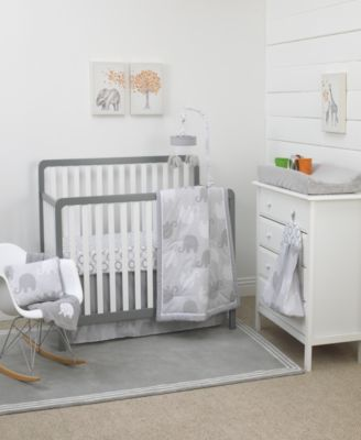 Gray Elephant Dream 8-Pc. Crib Set